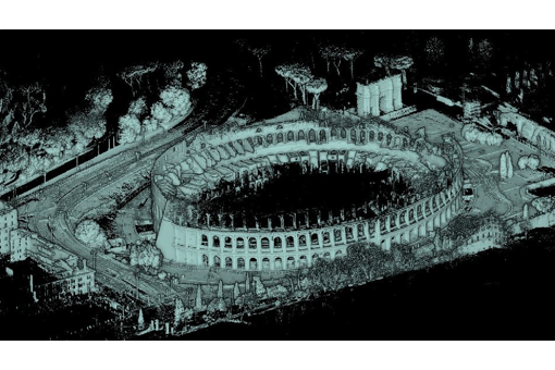 Rome Colosseum with Stencil Chinese